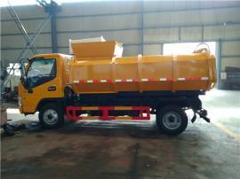 带挂桶的3吨污泥运输车_4方5方污泥清运车厂家