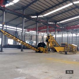 鼎科轮式洗沙机厂家直销 大型洗石机 沙场专用吸沙洗石机械定制