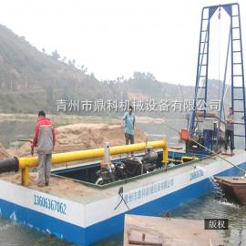小型简易抽沙船 小型河道采沙吸沙船定制 小型射流式抽沙船报价