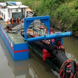 南方小型河道清淤疏浚挖泥船 鼎科郊区河道治理小型挖泥船