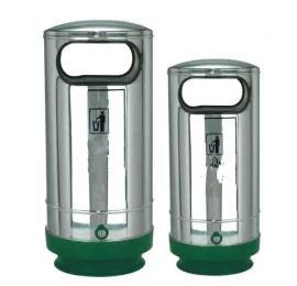 LF-B201固定式果皮箱 不锈钢垃圾桶单桶 带锁不锈钢垃圾桶