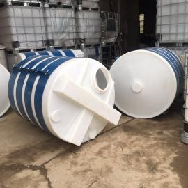 3吨锥底加药桶化工水处理专用塑料加药箱PE搅拌罐定制款