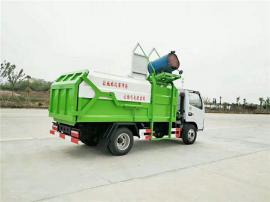 社区保洁小型挂桶垃圾车_专业厂家挂桶垃圾车销售