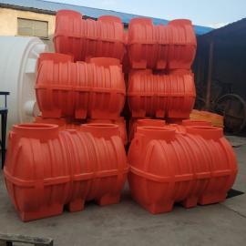 1吨桔色农村三格化粪池水循环环保厕所小区化粪池厂家直销