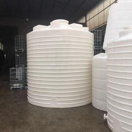 厂家直销15吨圆柱形环保水箱农场储水设备PE塑料桶软化水塔