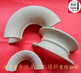 陶瓷矩鞍环填料 耐酸耐热陶瓷矩鞍环 矩鞍形填料 矩鞍填料图片