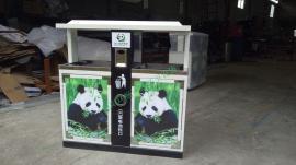 户外垃圾桶 雨城果皮箱 多分类钢板垃圾箱 果皮箱环畅厂家