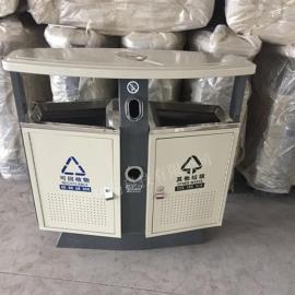 高速服务区大号果皮箱 钢板分类垃圾桶 户外垃圾箱