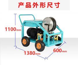 工业电动高压清洗机市政道路桥梁凿毛除锈除漆高压冲洗机500kg