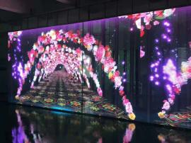 P3.91-7.81LED玻璃透明屏楼宇亮化大厦透明互动显示