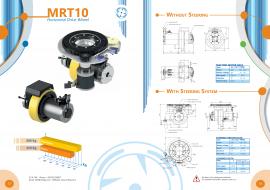 意大利CFR舵轮MRT10聚氨酯材质agv小车驱动轮