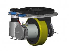 大牵引高承载 AGV小车核心单元 意大利CFR舵轮 立式舵轮 MRT97