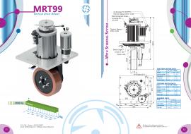 6000W电机立式结构意大利CFR立式舵轮 带转向