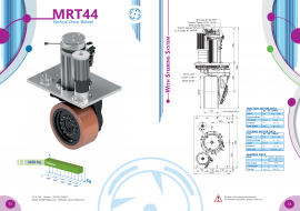 10000W驱动电机单轮牵引10T意大利CFR立式舵轮AGV小车MRT44