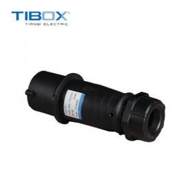 TIBOX户外防水工业接插装置3芯黑色250V 6H 2P+E插头IP44定制颜色