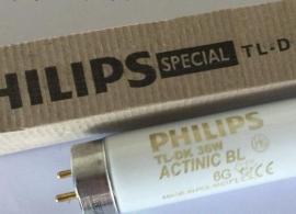 飞利浦TL-DK 36W/10 BL紫外线晒版灯管UV胶固化365NM诱虫光化灯