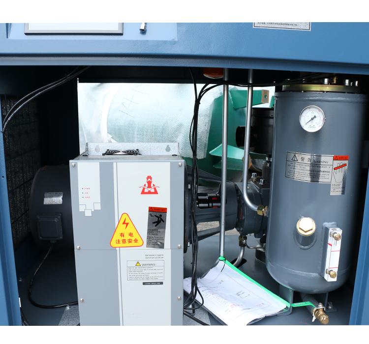 开山推出BMVF7.5千瓦小功率永磁变频双螺杆式空压机北美SKK主机