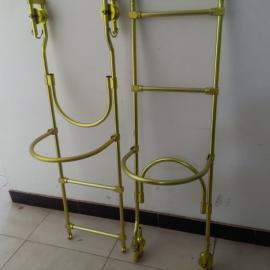 高强度铝合金挂式软梯头双线铝合金软梯头自动闭锁软梯头