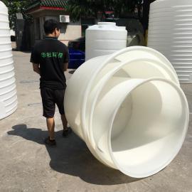 厂家直销1500L食品级敞口存物圆桶蜂蜜酵素塑料水桶塑胶圆桶