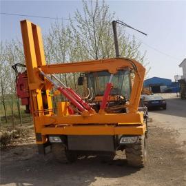 供应液压护栏打桩机 高速公路护栏打桩机 全液压护栏打桩机供应