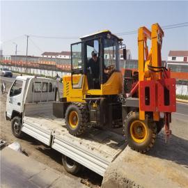 直销多功能公路护栏打桩机 全液压高速公路护栏打桩机生产厂家