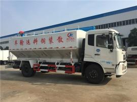 东风天锦11吨散装饲料车 养猪场自动上料车