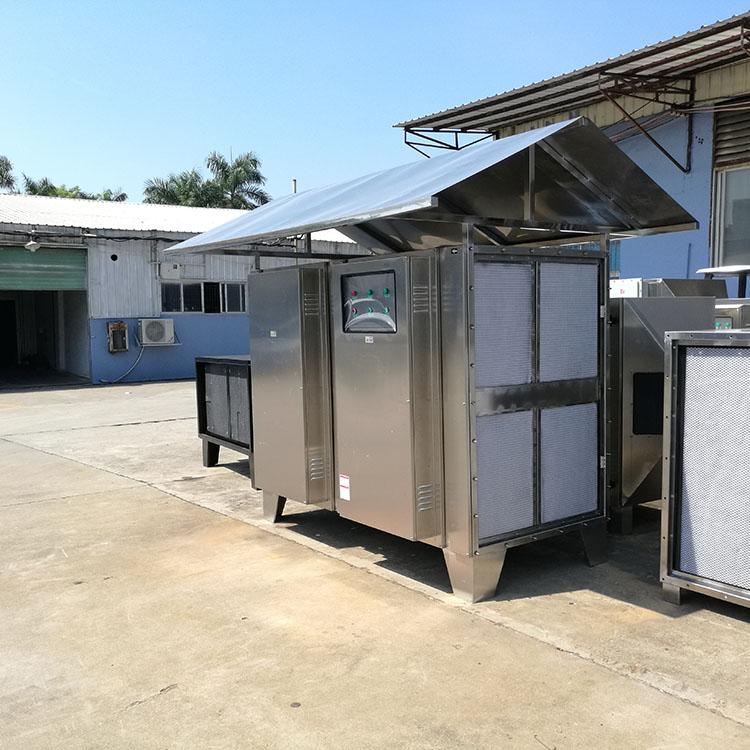 UV光氧等离子净化器304不锈钢雨罩一体机