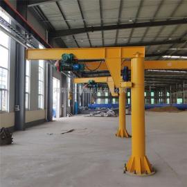2吨定柱式悬臂吊 360度电动旋转悬臂吊 车间仓库上料悬臂起重机