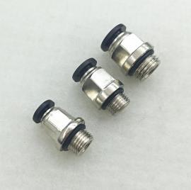 厂家直销塑料接头快插直通PC4-01 6-01 8-02外丝直通带O型圈