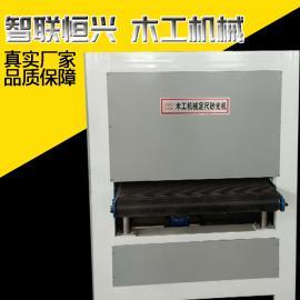 重型双轴定尺砂光机木板宽带打磨机抛光机械设备厂