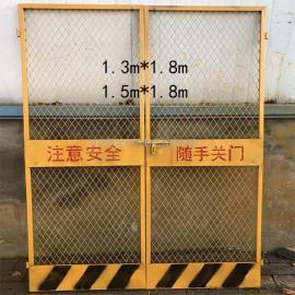 电梯防护门 建筑施工井口安全防护门网 临边楼层洞口安全防护门