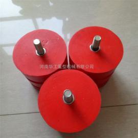 100*100螺柱式聚氨酯缓冲器 JHQ-A起重机行车缓冲器 红色缓冲块