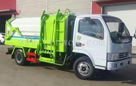 多利卡5方挂桶垃圾车|东风5方侧装对接式垃圾车好用看得见