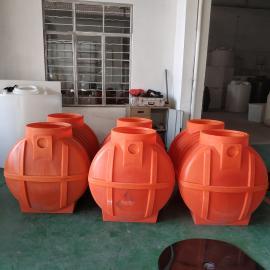 1吨桔色家用环保塑料化粪池免水型生态环保厕所清理化粪池定制款