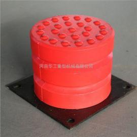 JHQ-C聚氨酯缓冲器 120*100带铁板行车缓冲块 起重机防撞装置