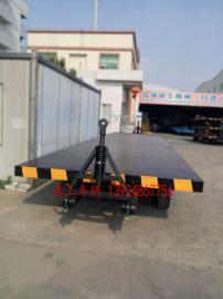 18吨双牵引平板拖车