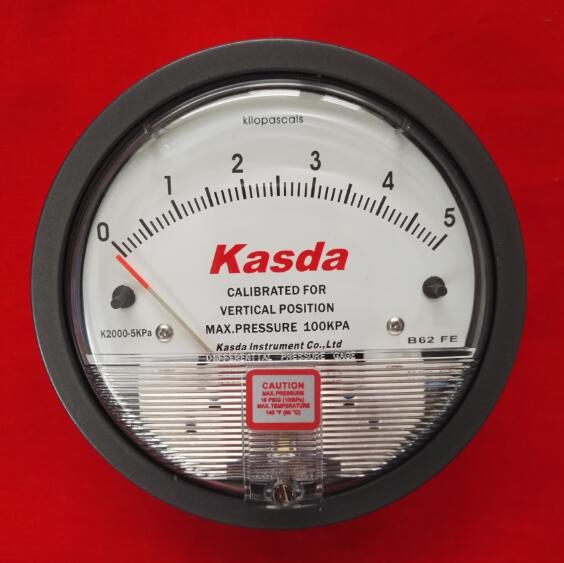 2000-5KPa机械式气体压差表指针表