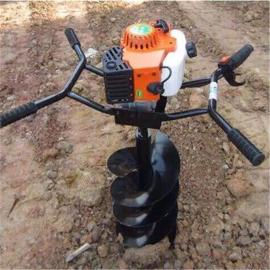 农用单人汽油机 钻地打柱机 大功率挖坑机