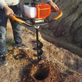 隆鑫手提便携式单双人通用型地钻挖坑机果树施肥栽苗木种植钻坑机