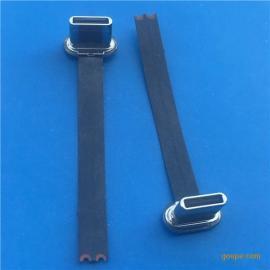 TYPE-C USB 3.1无线充公头2P无线充电40mm长度2点开路+黑排线