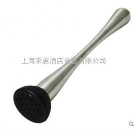进口不锈钢 木制 捣碎器研磨棒Muddler压碎棒混合器蒜蓉器