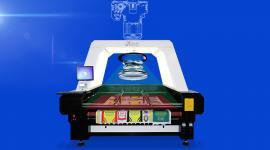 双轨异步布料激光切割机 视觉寻边激光裁剪烧花机 汉马激光