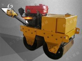 厂家直供手扶式双轮压路机 振动碾双滚筒小型