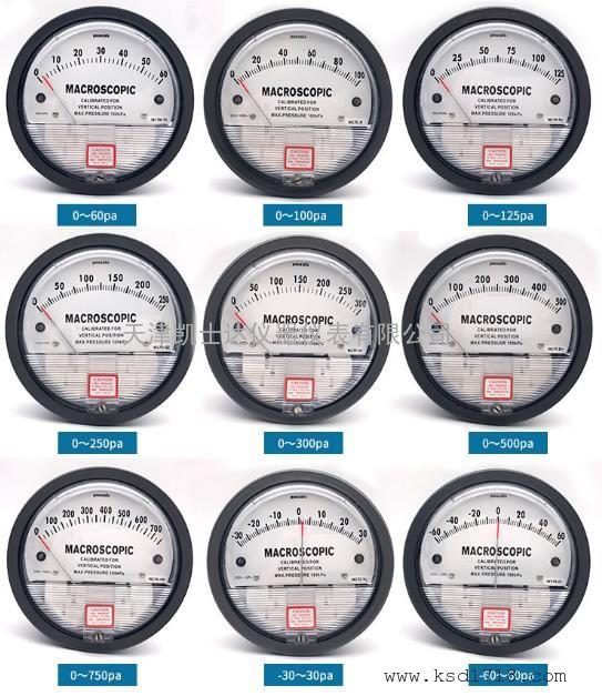 MACROSCOPIC圆盘机械式指针压力表风压表