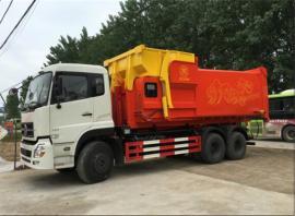 5吨压缩对接垃圾车 侧装挂桶压缩垃圾车