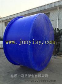 7.5吨大型水产养殖塑料桶直销 7500升育苗养殖PE桶