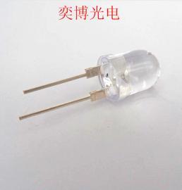 10mm�A�^有�白光透明LED�糁� 特殊照明�S�LED�糁�