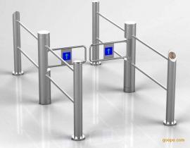 生产人证合一识别系统护栏圆柱小摆闸翼闸三棍闸全高转闸厂家