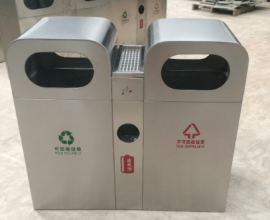 不锈钢户外垃圾桶 不锈钢垃圾桶烟灰桶 街道果皮桶厂家