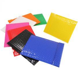 彩色镀铝膜亮光气泡信封自粘塑料袋厂家